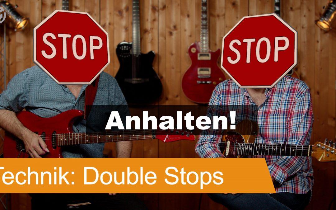 Double Stops Fills für Gitarre