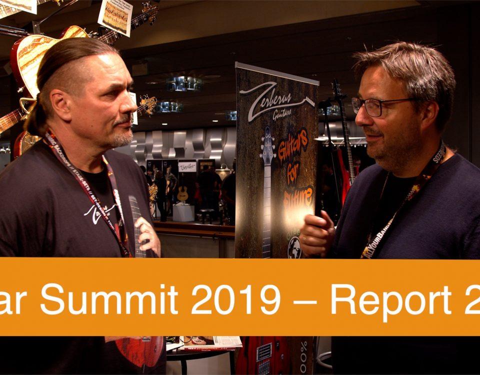 Der Spaß auf dem Guitar Summit 2019 in Mannheim geht weiter! Zerberus Gitarren, Okko, Schröter Amps, Grossmann Audio, Stevens Gitarren, Greuter Audio, etc.